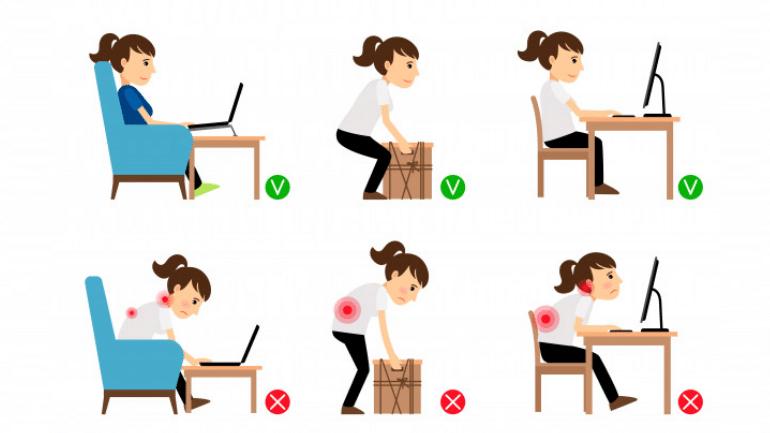 Postura correta para uma vida mais saudável